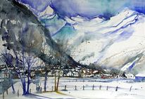 Winterlandscape, Winterlandschaft, Pinzgau, Salzburg