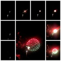 Rakete, Rot, Silvester, Grün