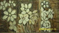 Weiße blume, Blumen, Malerei, Pflanzen