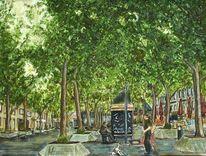 Iserlohner, Marktplatz, Sommer 2015, Malerei