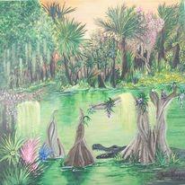 Amerika, Florida, Usa, Malerei