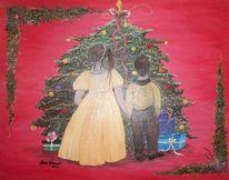 Kinder, Angels, Weihnachten, Baum