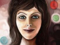 Gesicht, Frau, Fantasie, Digitale kunst