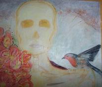 Figurativ vogel, Freund detaille, Malerei, Freund