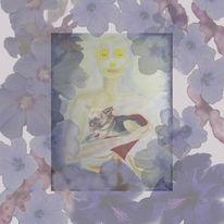 Blüte, Hund, Pastellmalerei, Tod