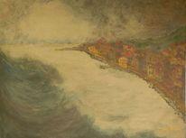 Zeitgenössisch, Tsunami, Wasser, Meer