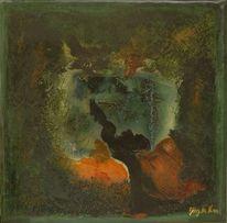 Zeitgenössisch, Abstrakt, Grün, Wald