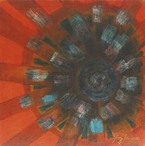 Umwelt, Abstrakte malerei, Zeitgenössischer maler, Ökojeans