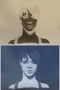 2013, Gesicht, Rihanna, Schwarz weiß