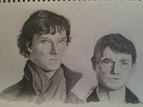Schwarz weiß, Gesicht, 2014, Sherlock