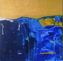 Blau, Gold, Malerei