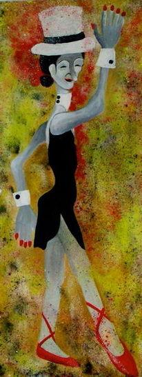 Menschen, Maske, Ballerina