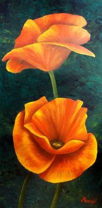 Mohnblumen, Malerei, Pflanzen