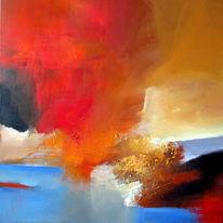 Abstrakt, Herbst, Rot, Kontrast