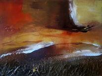 Abstrakt, Braun, Landschaft, Vulkan