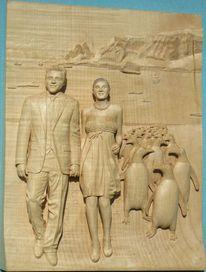 Heiße liebe, Nach fotos holzschnitzen, Antarktis, Boris