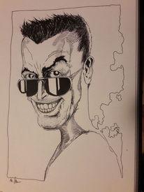 Vampir, Portrait, Schwarz weiß, Zeichnungen