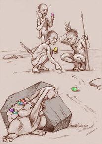 Hase, Ostern, Zeichnungen