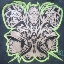 Urban artmaske, Streetart, Aerosol, Malerei