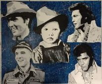Portrait, Elvis presley, Malerei, Elvis