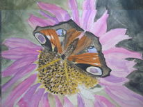 Aquarellmalerei, Natur, Tiere, Schmetterling