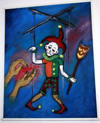 Kloan, Malerei, Menschen, Clown