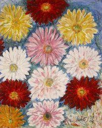 Natur, Bunt, Gerbera, Blumen