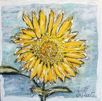 Blumen, Gelb, Sonnenblumen, Malerei
