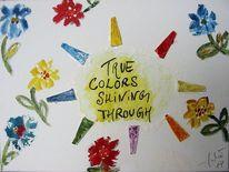 Blumen, Wahrheit, Farben, Holz