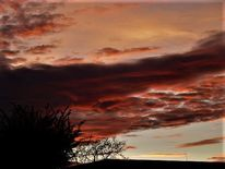 Himmel, Wolken, Farben, Abendglühen