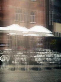 Stuhl, Architektur, Glastür, Stadtansicht