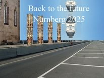 Zukunft, Bewerbung, Stadt, Plakatkunst