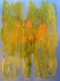 Fliegendes element, Abstrakt, Malerei, Ölmalerei
