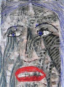 Gesicht, Digitale bearbeitung, Struktur, Deutung