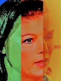Umfrage, Frau, Kopf, Gesicht