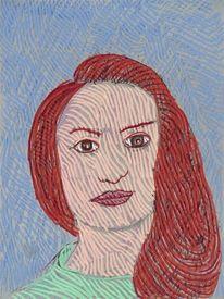 Frau, Frisur, Portrait, Gesicht