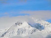 Berge, Himmel, Schnee, Nebel