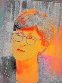 Portrait, Farben, Menschen, Gesicht
