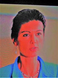 Farben, Menschen, Frau, Portrait