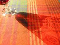 Muster, Wein, Projektion, Glas