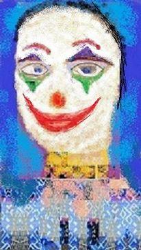 Gesicht, Schminke, Portrait, Joker
