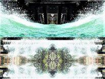 Digitale erweiterung, Wasser, Brandung, Filter