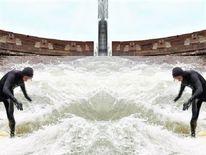 Komposition, Welle, Surfen, Architektur