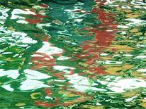Spiegelung, Farben, Bewegung, Wasser