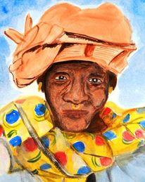 Kopftuch, Alt, Umhang, Afrika