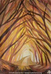 Acrylmalerei, Hecke, Kathedrale, Malerei