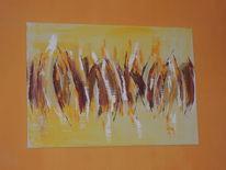 Moderne malerei, Abstrakte malerei, Freundlich, Acrylmalerei