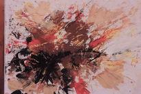 Braun, Abstrakt, Moderne malerei, Bunt