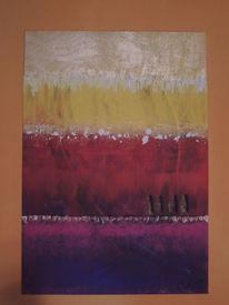 Edel, Violett, Abstrakte malerei, Gelb