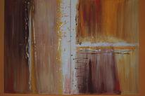 Moderne kunst, Acrylmalerei, Abstrakt, Träumerei